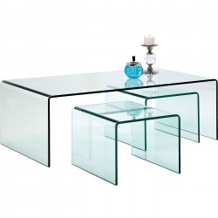 Table Basse Transparente Clear Club 3/set Kare Design