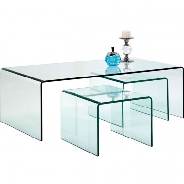 Table Basse Transparente Clear Club 3/set Kare Design