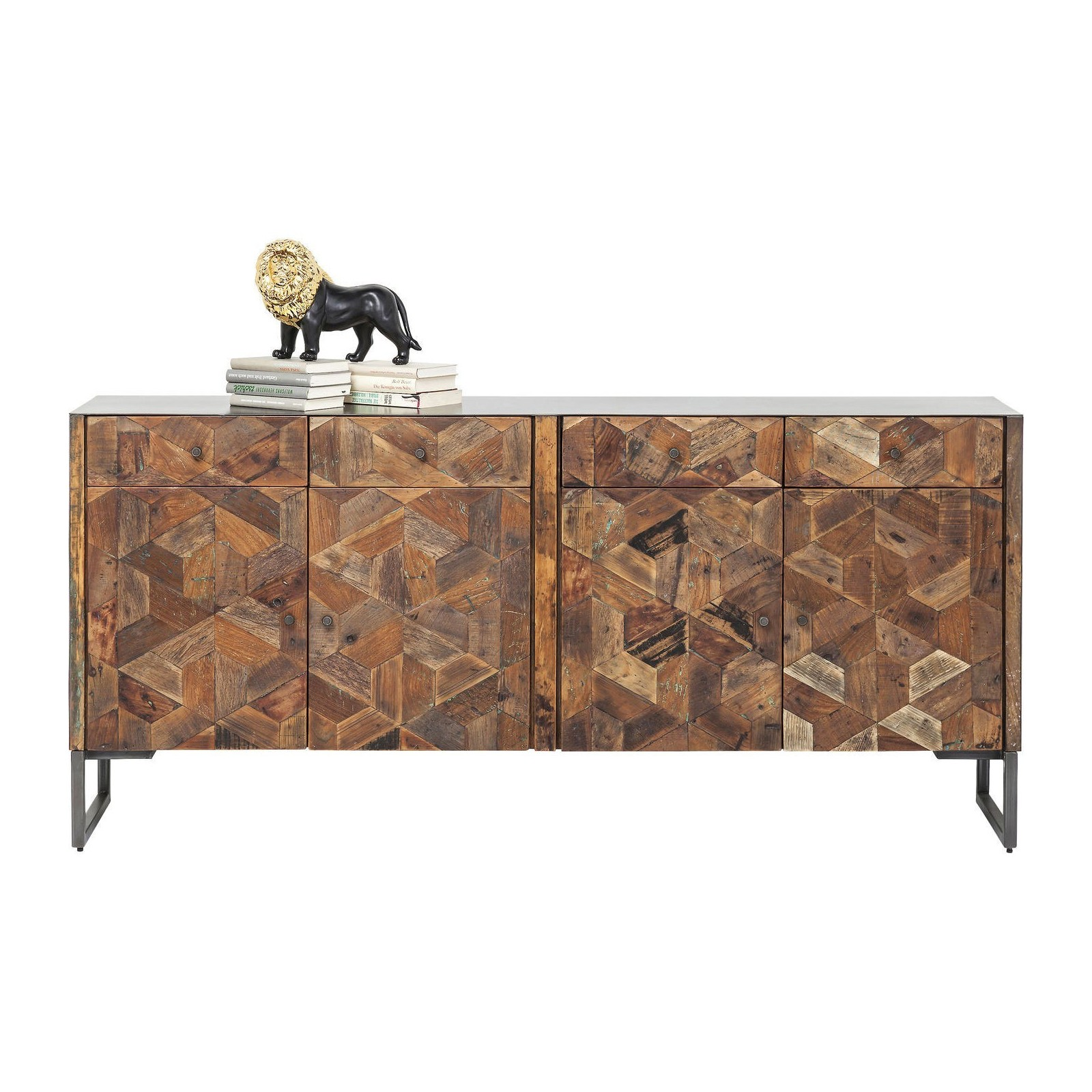 buffet industriel en bois hunters lodge kare design. Black Bedroom Furniture Sets. Home Design Ideas