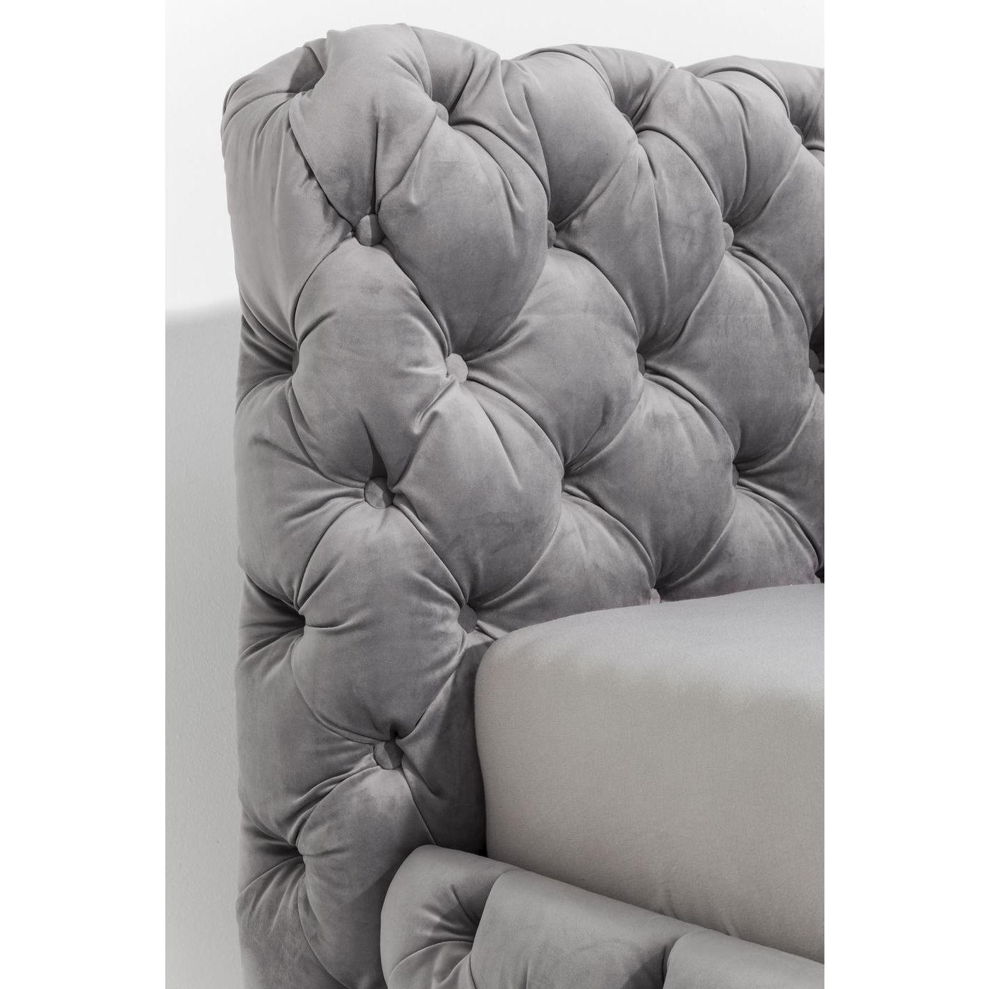 Lit Desire 180x200cm gris argenté Kare Design