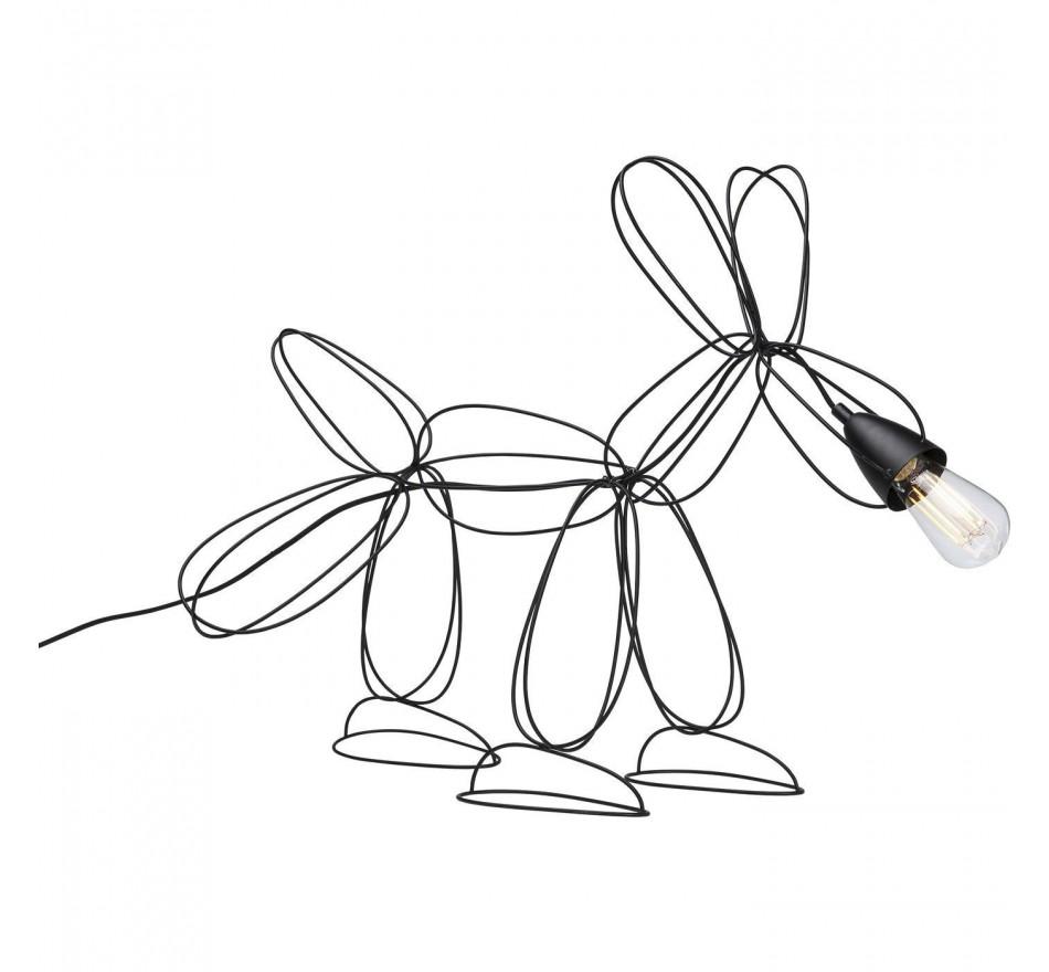 Lampe de table Dog Wire noire Kare Design