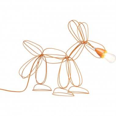 Lampe de table Dog Wire orange Kare Design
