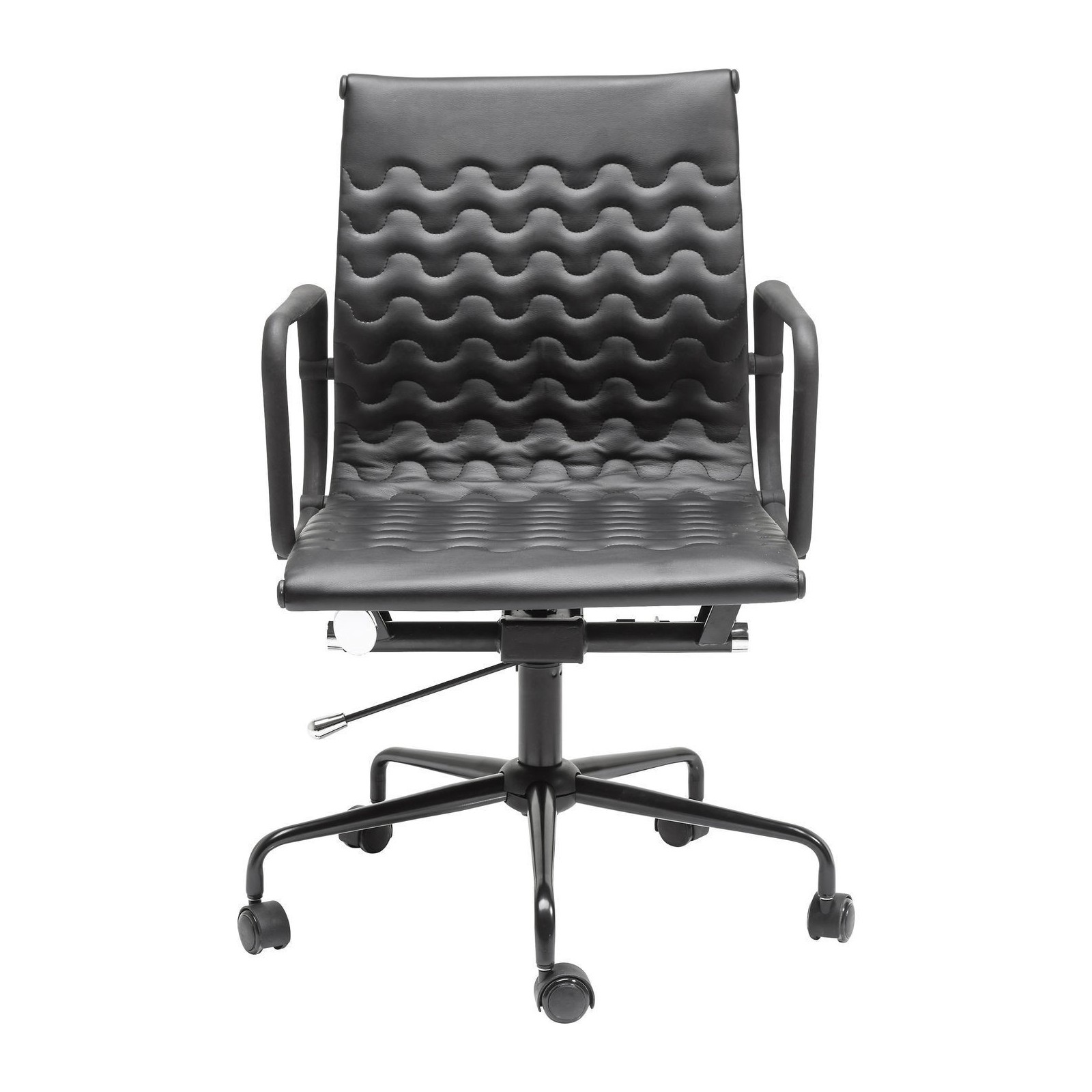 Chaise de bureau moderne noire wave kare design for Chaise de bureau design