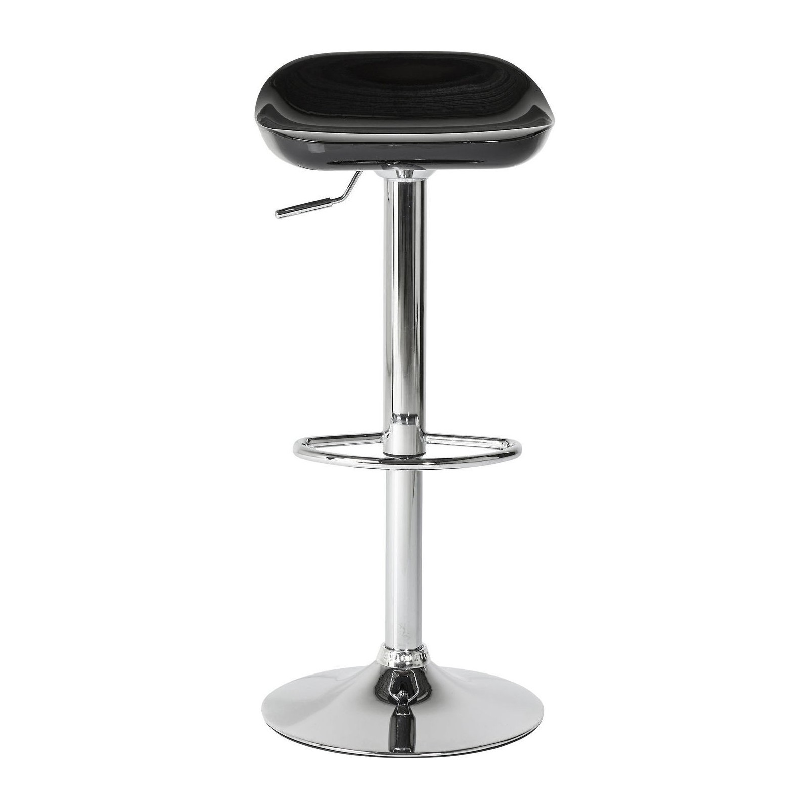 tabouret de bar design noir pivotant bucket meubles. Black Bedroom Furniture Sets. Home Design Ideas