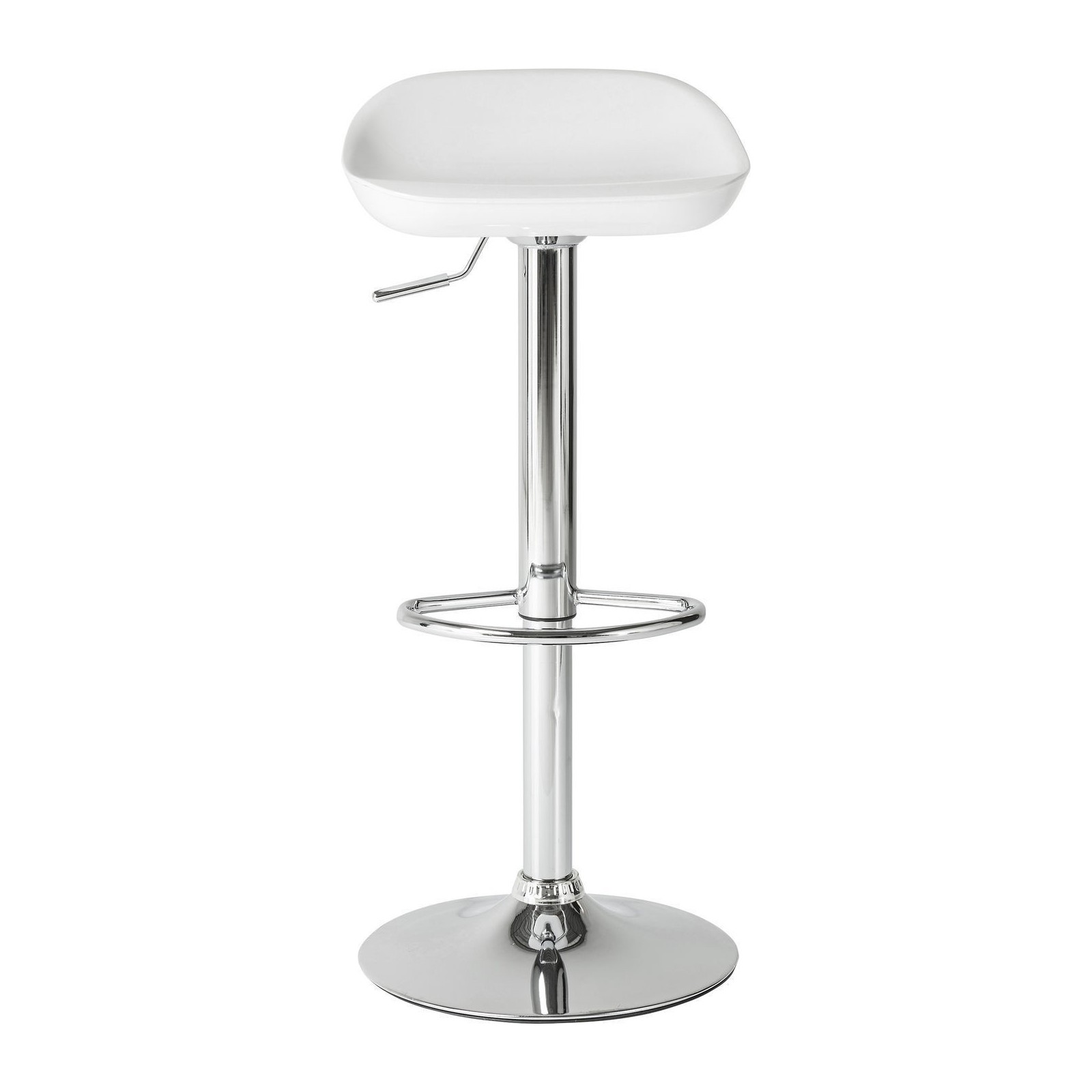 Tabouret de bar design blanc bucket kare for Siege de bar design