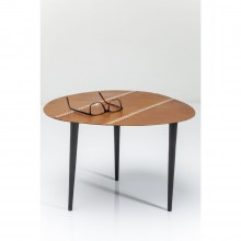 Table d'appoint Egg cuir 46x50cm Kare Design