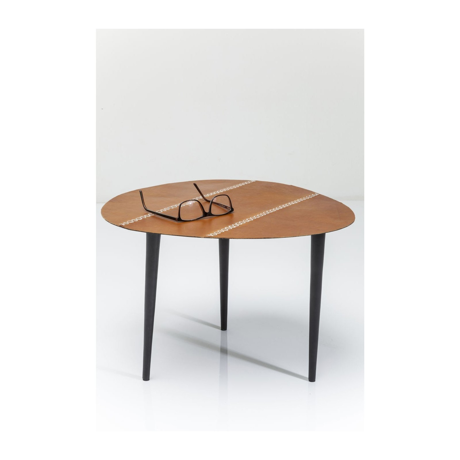 Table d 39 appoint egg cuir 46x50cm kare design - Table appoint design ...