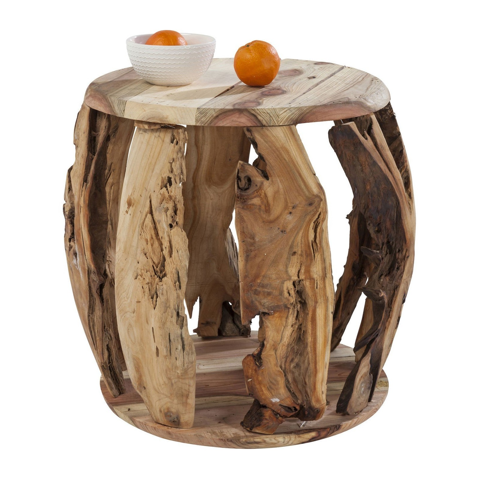 Table design en bois de pin wild jungle meubles kare for Table design jungle
