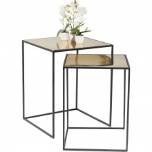 Tables d'appoint Treasure Gold (set/2) Kare Design