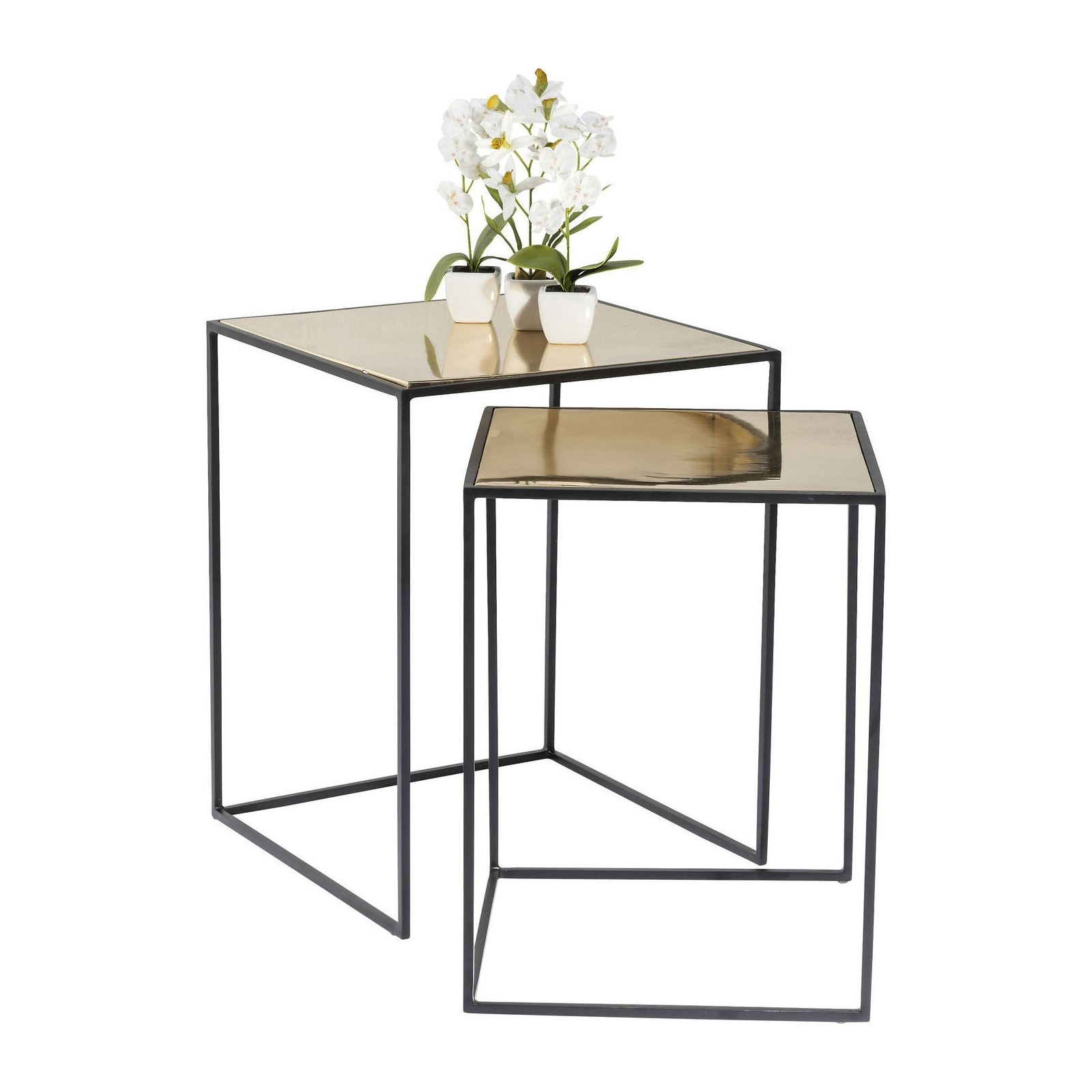 Tables d 39 appoint treasure gold set de 2 kare design - Tables d appoint design ...