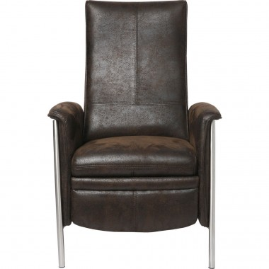 Fauteuil Relax Lazy marron Kare Design