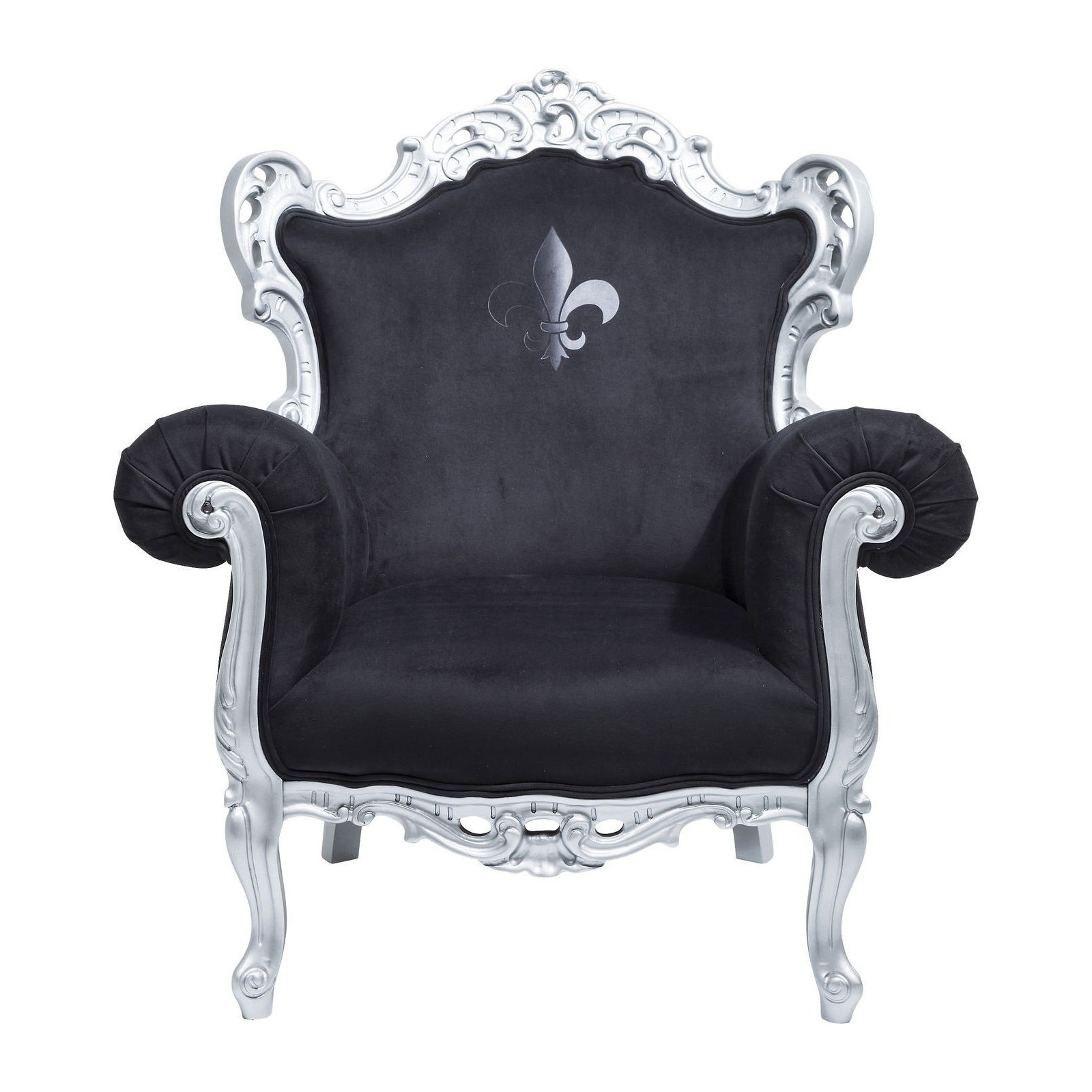 fauteuil baroque noir rockstar by geiss kare design. Black Bedroom Furniture Sets. Home Design Ideas