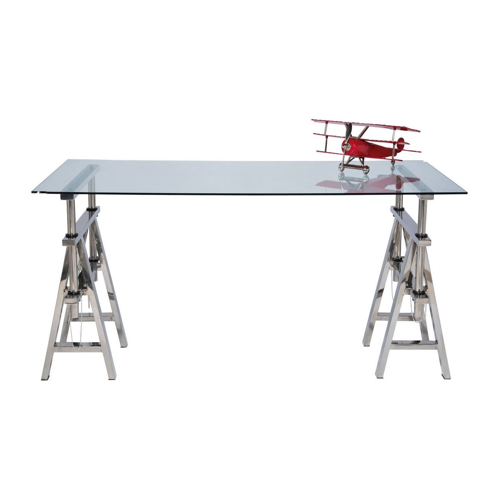 Table industrielle en verre pintor kare design for Table bureau design