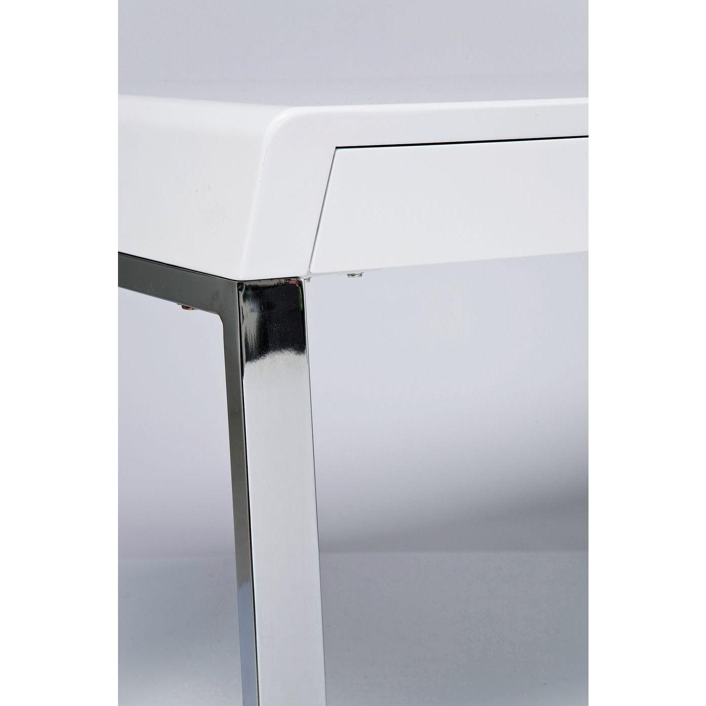Bureau blanc Solution 2 tiroirs 140x70cm Kare Design
