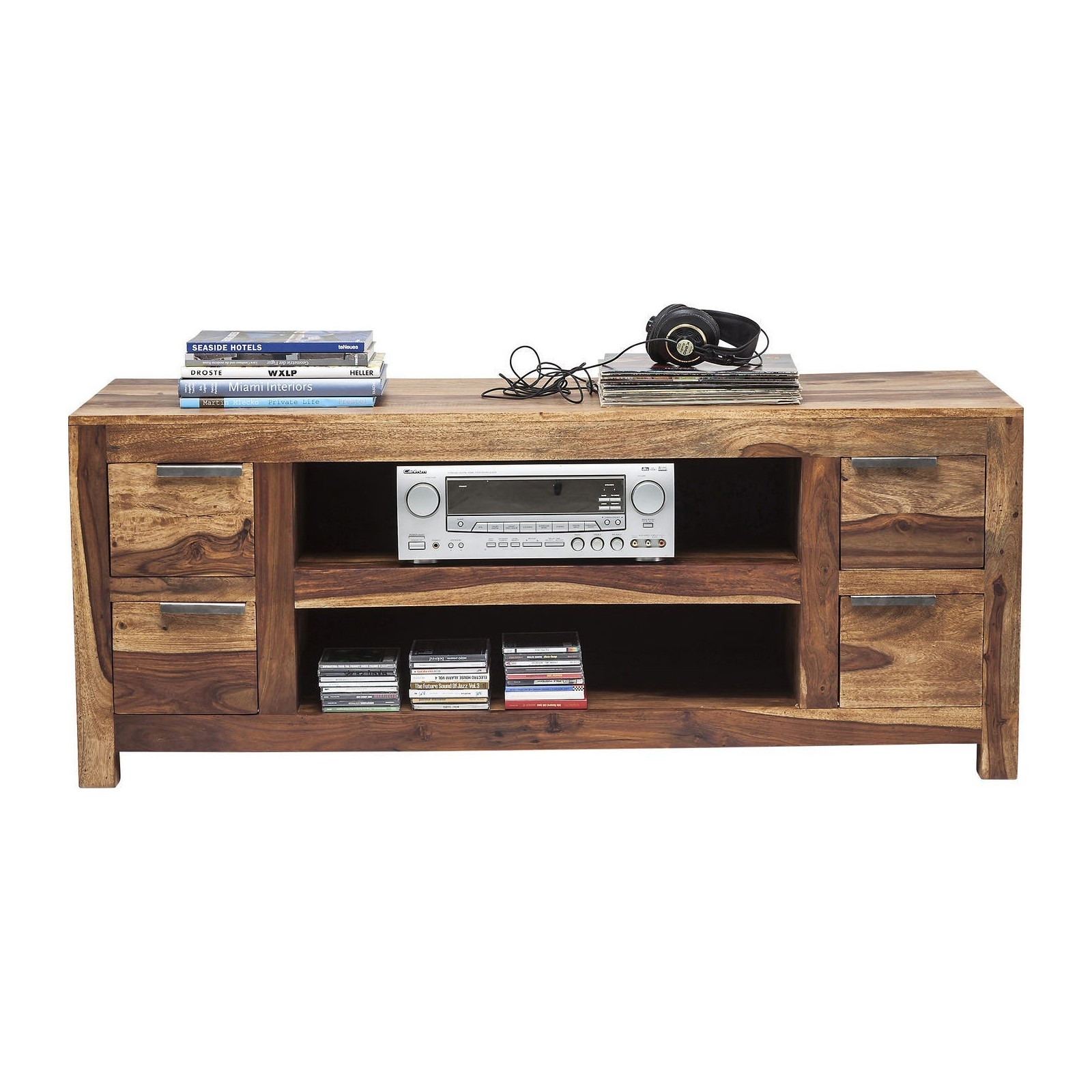 Meuble Tv Traditionnel En Bois Authentico Kare Design # Table Televiseur En Bois