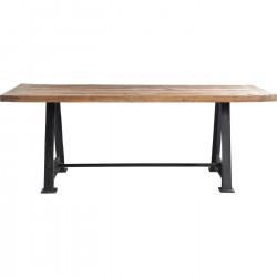 Table Bois Massif Railway 210x100 Kare Design