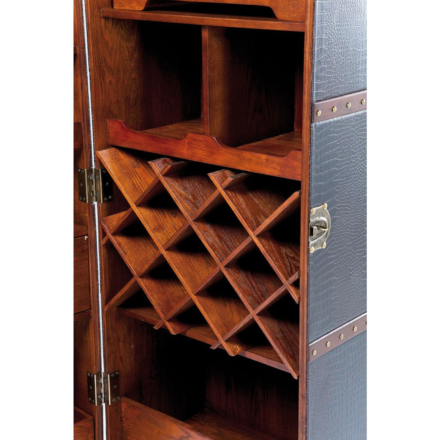 Bar-coffre haut Colonial croco Kare Design
