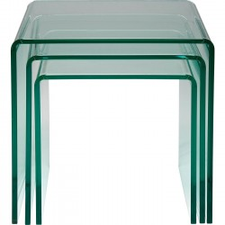 Tables d'appoint Visible Clear gigognes set de 3 Kare Design