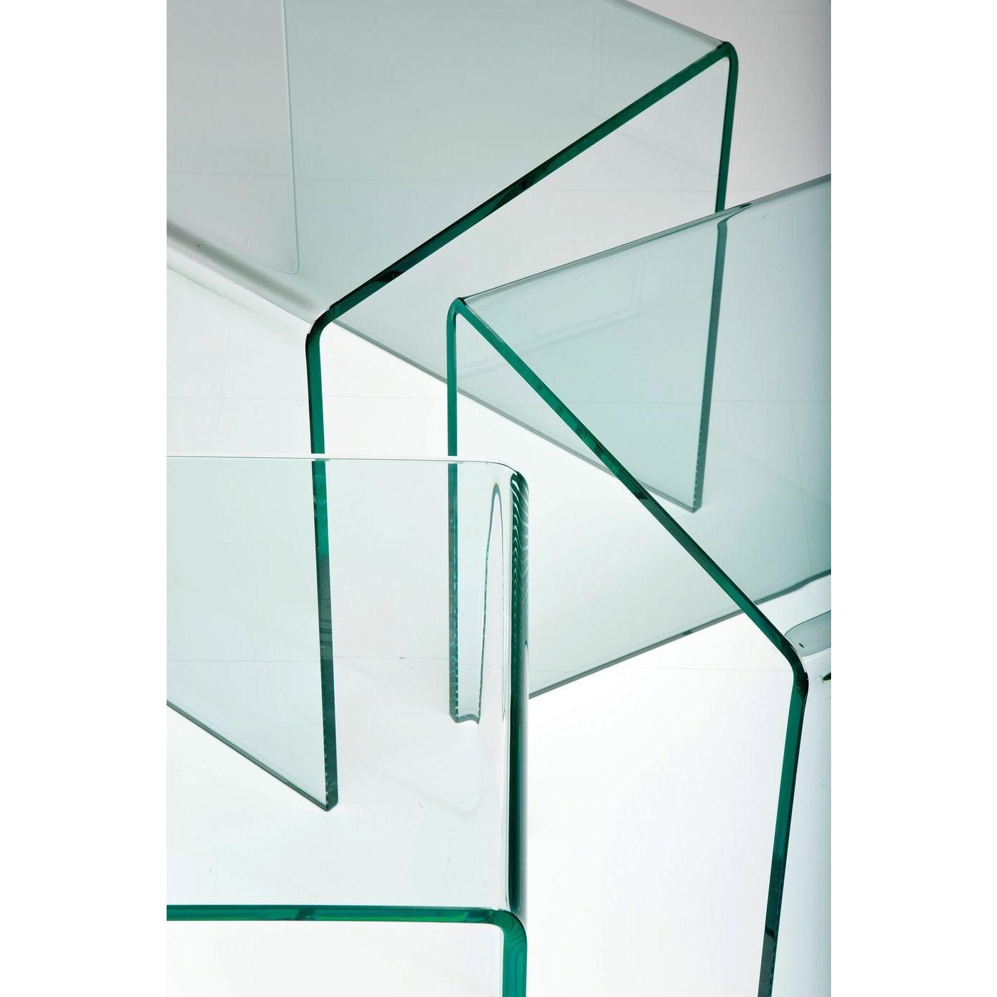 Tables d'appoint Visible Clear gigognes set de 3 Kare Design