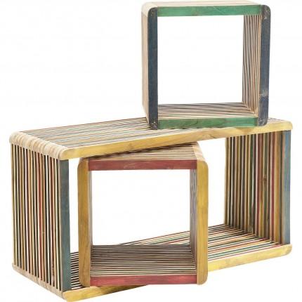 Cubes Micado colorés set de 3 Kare Design
