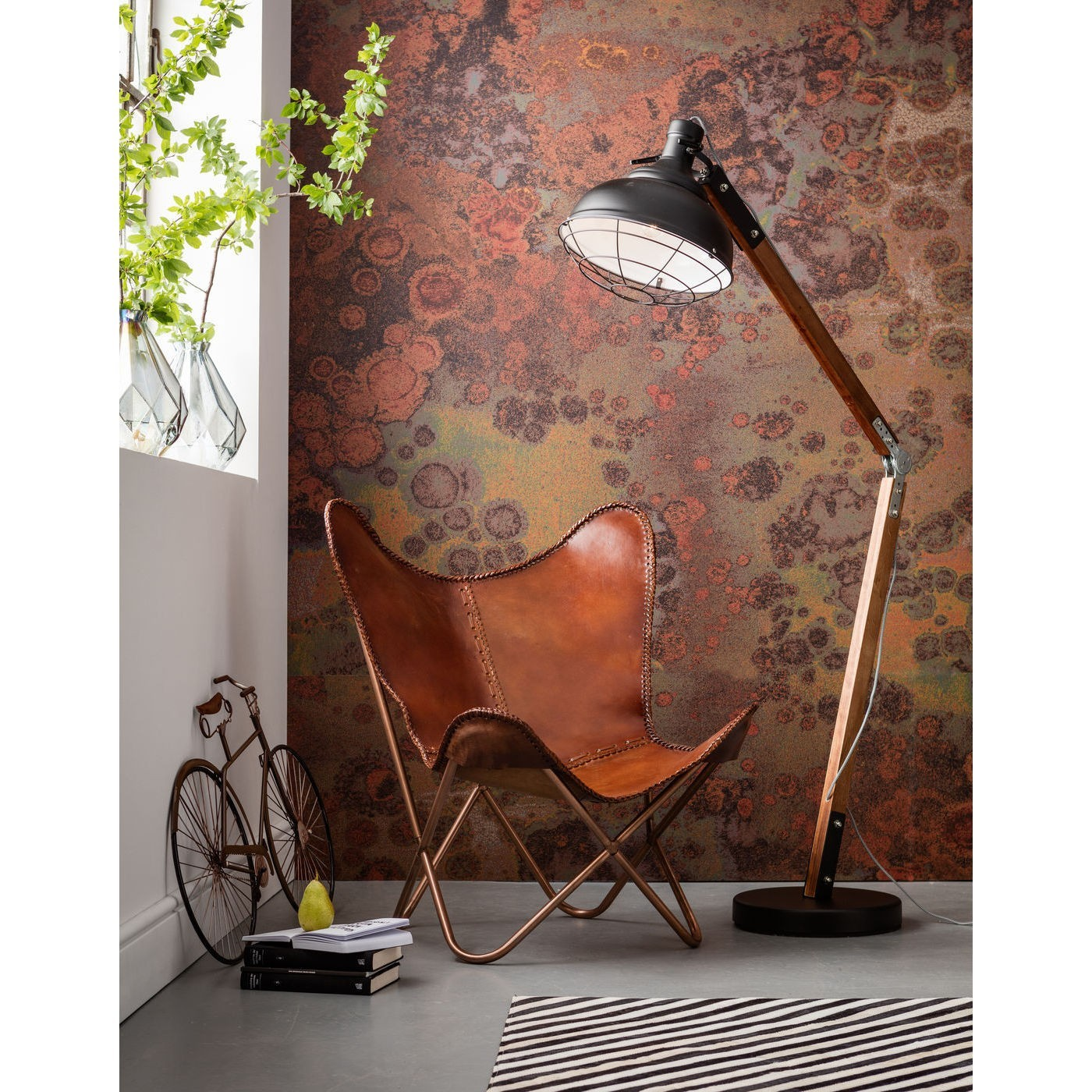 Fauteuil Butterfly Marron Kare Design