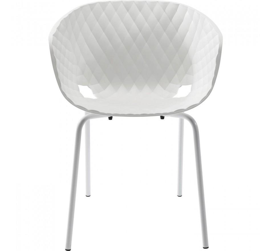 Fauteuil Radar Bubble blanc Kare Design