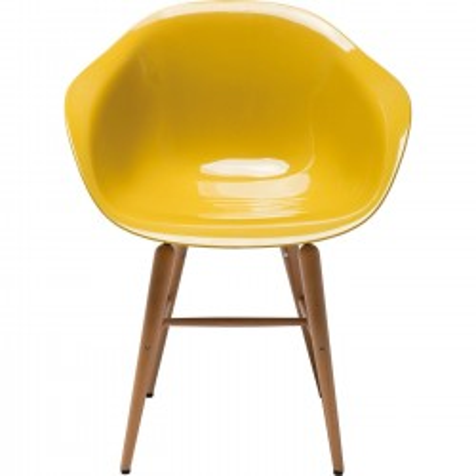 Chaise avec accoudoirs Forum moutarde Kare Design