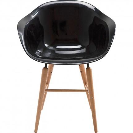 Chaise avec accoudoirs Forum noir Kare Design