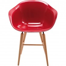 Chaise avec accoudoirs Forum rouge Kare Design