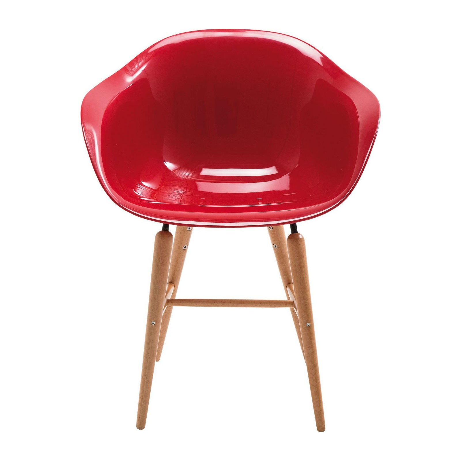 Chaise avec accoudoirs r tro rouge forum kare design for Chaise rouge