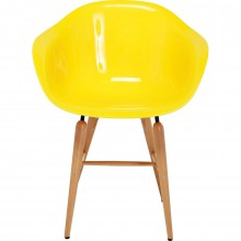 Chaise avec accoudoirs Forum jaune Kare Design