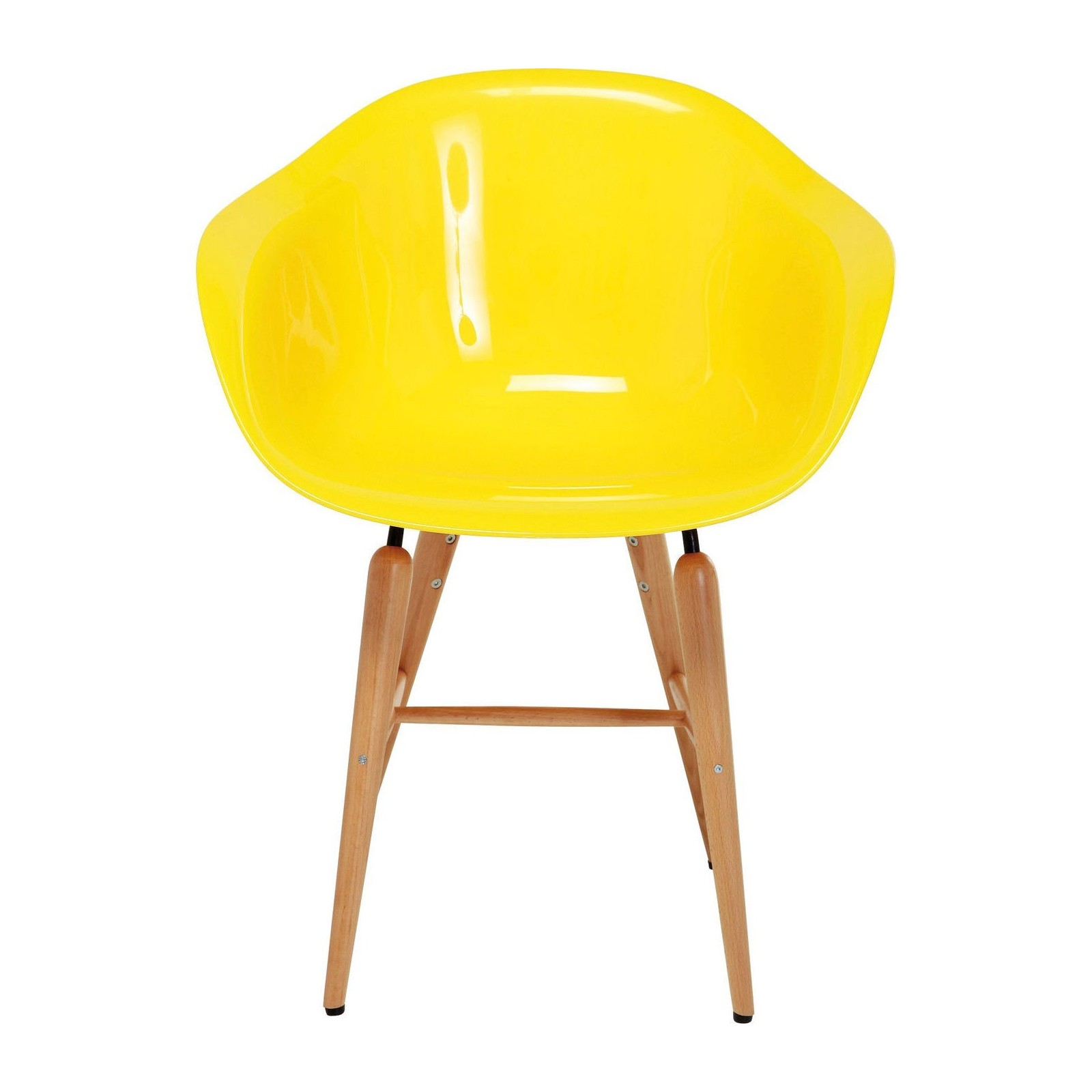 Chaise avec accoudoirs forum jaune kare design for Chaise jaune design