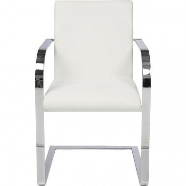 Chaise avec accoudoirs Canto blanche Kare Design