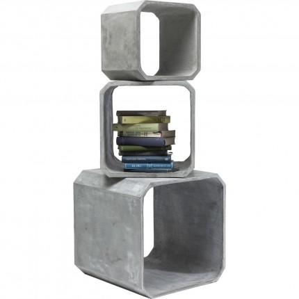 Cubes carrés Concrete set de 3 Kare Design