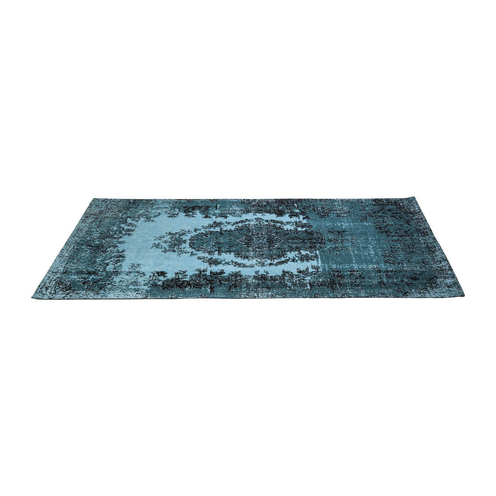 tapis en coton kelim pop turquoise 200x300cm kare design. Black Bedroom Furniture Sets. Home Design Ideas