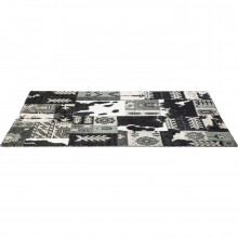 Tapis Design Square Mix It noir 170x240 Kare Design