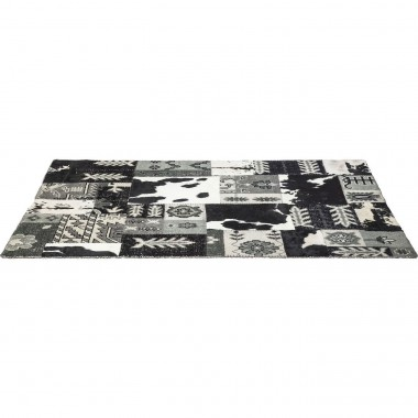 Tapis Design Square Mix It noir 170x240cm Kare Design