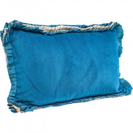 Coussin Frill Uni bleu 30x50 cm Kare Design