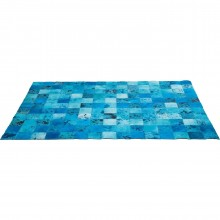 Tapis Patchwork Blue Water Cuir 170x240cm Kare Design