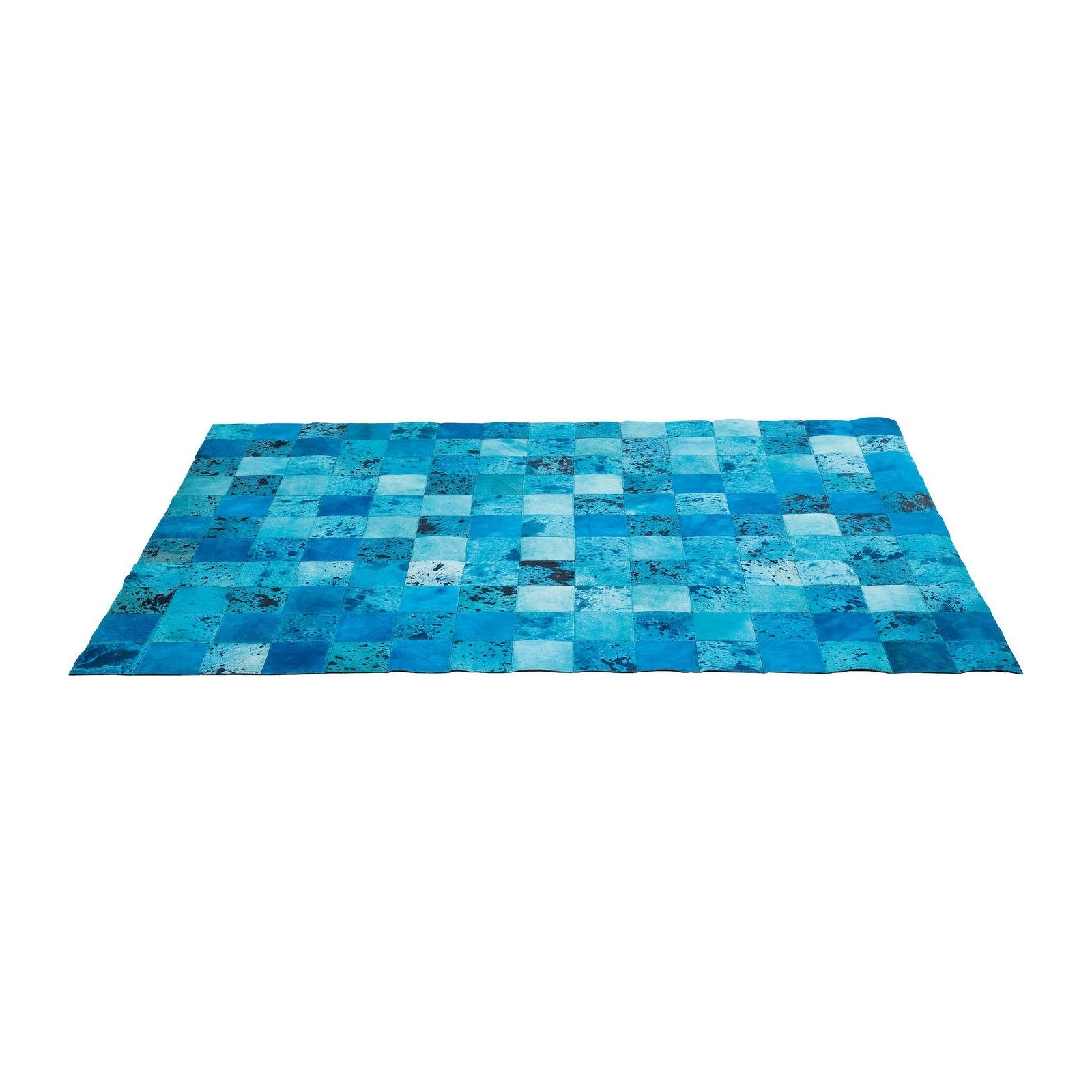 tapis patchwork blue water cuir 170x240cm kare design. Black Bedroom Furniture Sets. Home Design Ideas