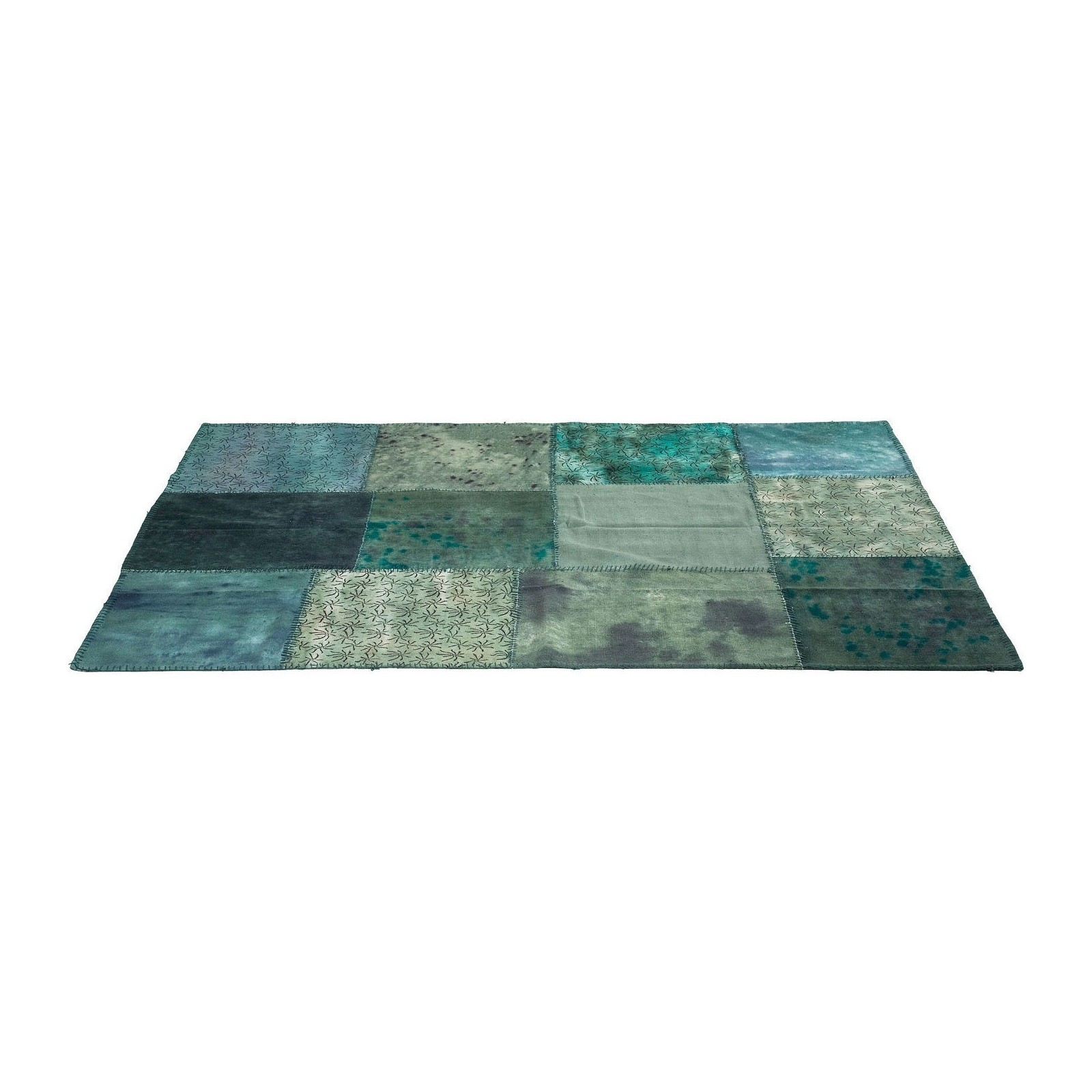 tapis patchwork turquoise 170x240cm kare design. Black Bedroom Furniture Sets. Home Design Ideas