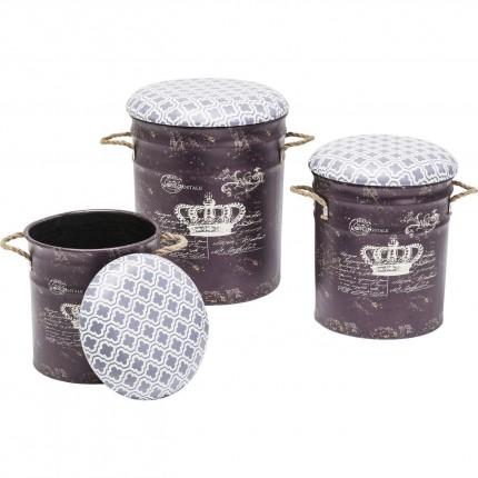 Tabourets Storage Royal set de 3 Kare Design