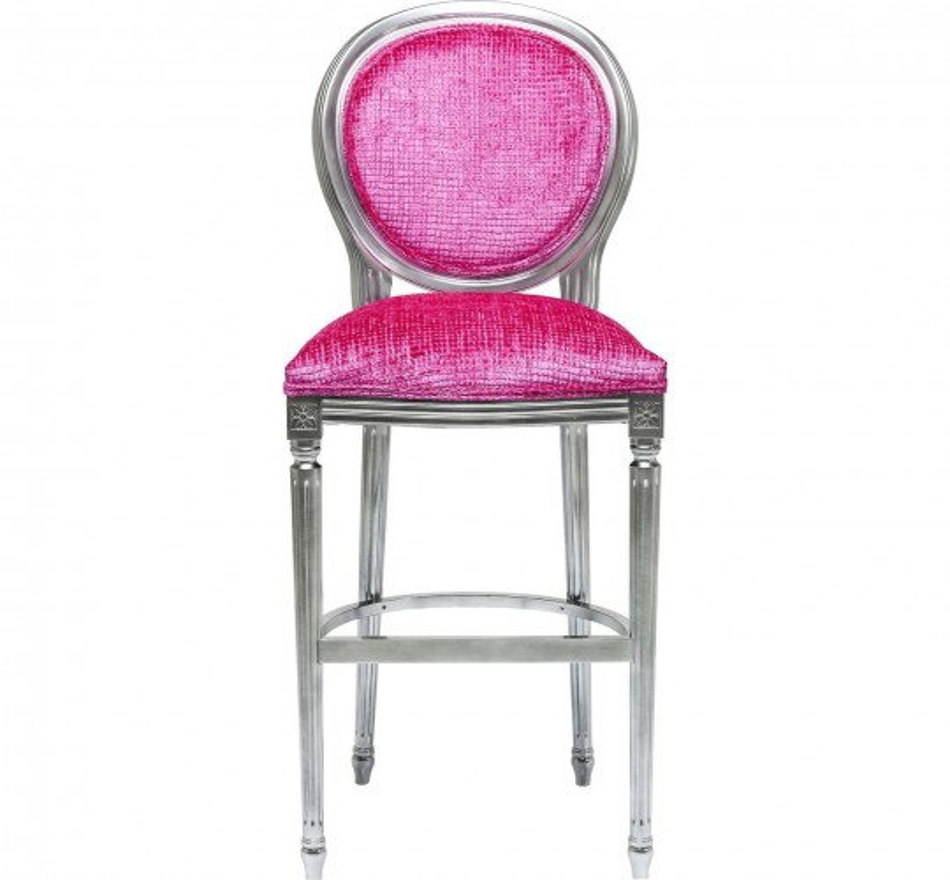 Tabouret de bar Posh Silver rose Kare Design