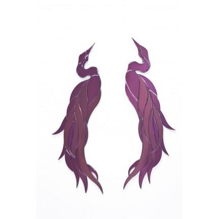 Décorations murales Phoenix Violet set de 2 Kare Design