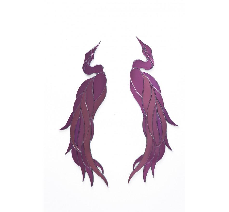 Décoration miroir Phoenix Violet 2/set Kare Design
