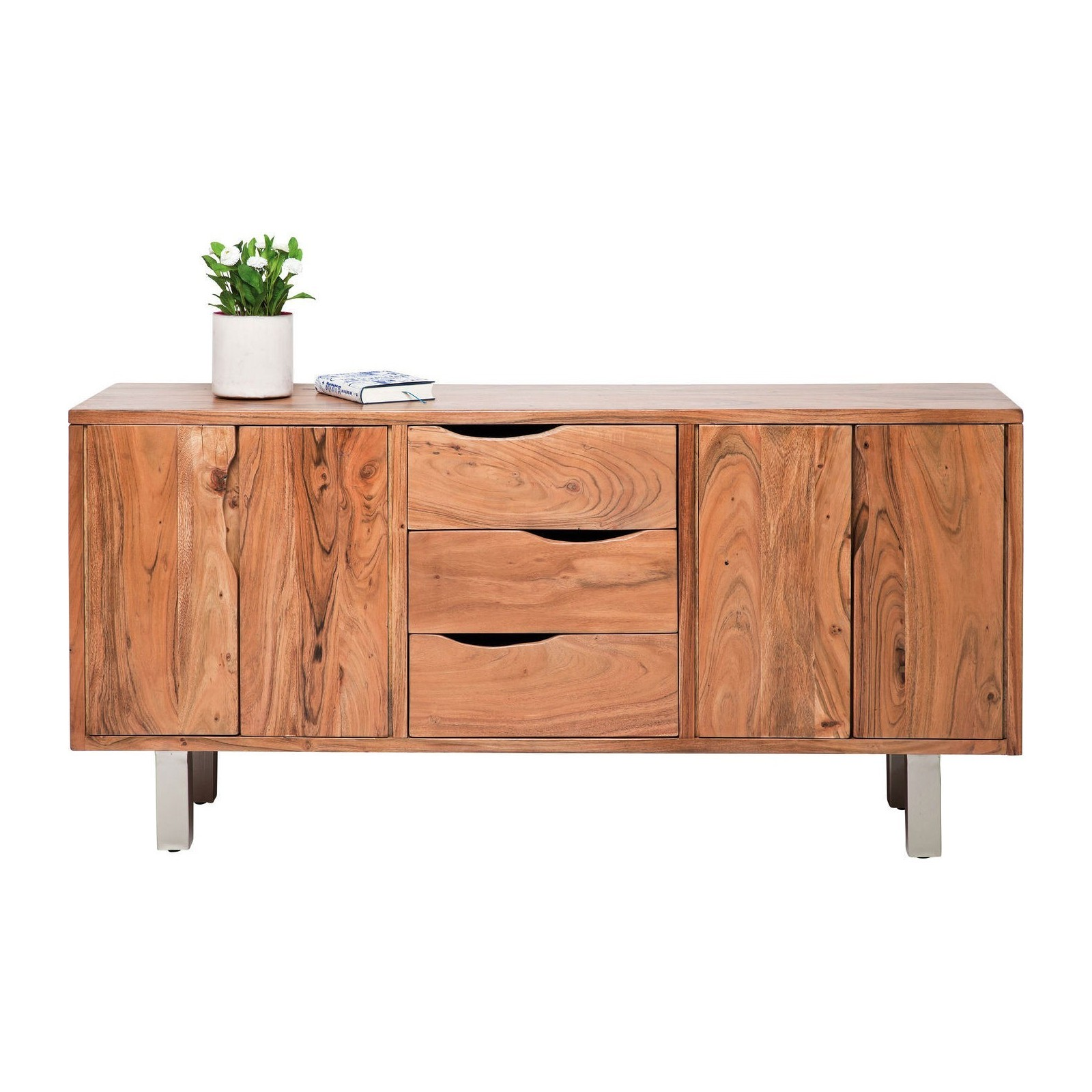 buffet moderne en bois nature line kare design. Black Bedroom Furniture Sets. Home Design Ideas