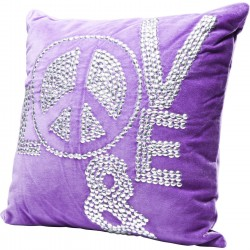 Coussin Love and Peace 40x40 cm Kare Design