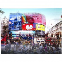 Tableau en Verre Piccadilly Circus 120x160 Kare Design