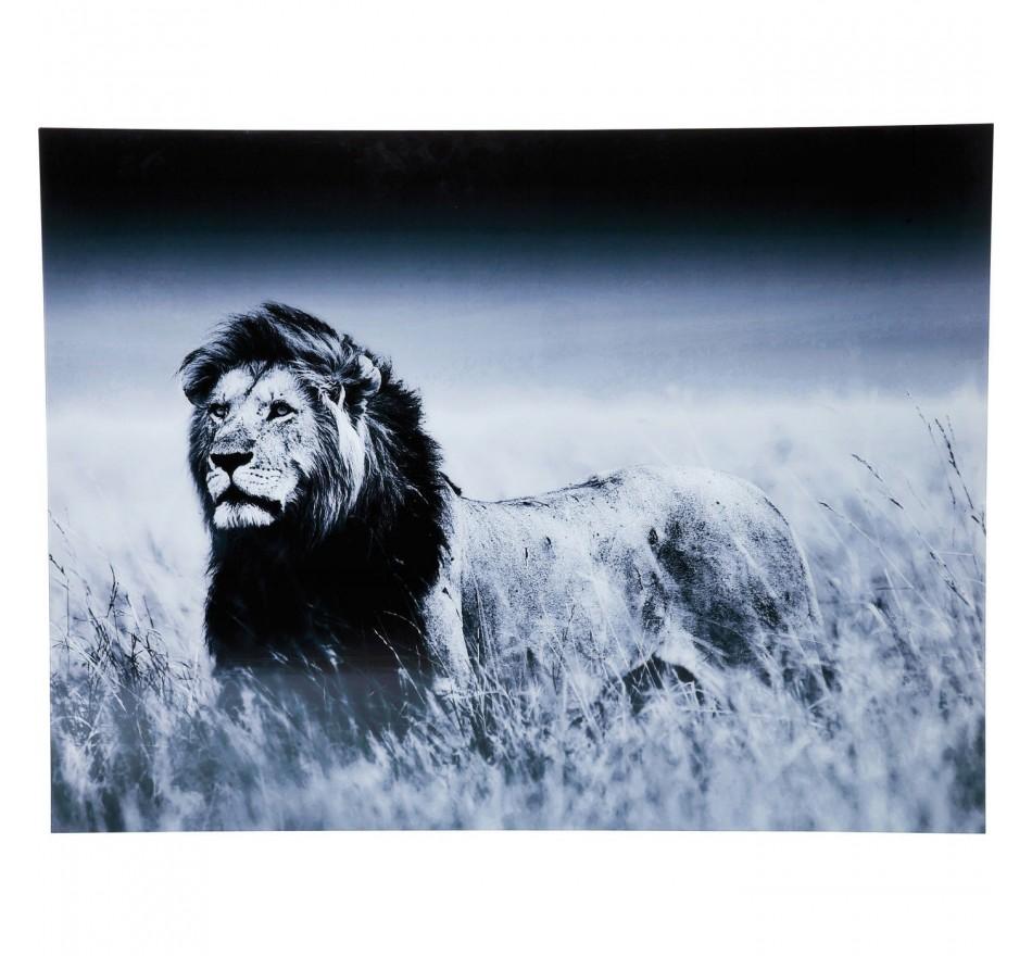 Tableau en Verre Lion King Standing 120x160 Kare Design