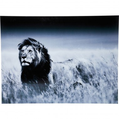 Tableau en Verre Lion King Standing 120x160cm Kare Design